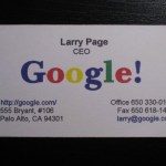 google business card circa 1998