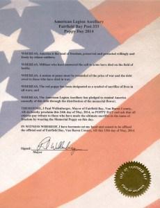 Popy Proclamation