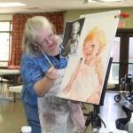 Artist League Held Portrait  Painting Workshop