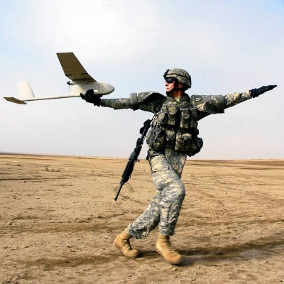 Lockheed Martin Global Training & Logistics in Orlando develops training technology for the Raven (pictured here), a tiny surveillance drone that can