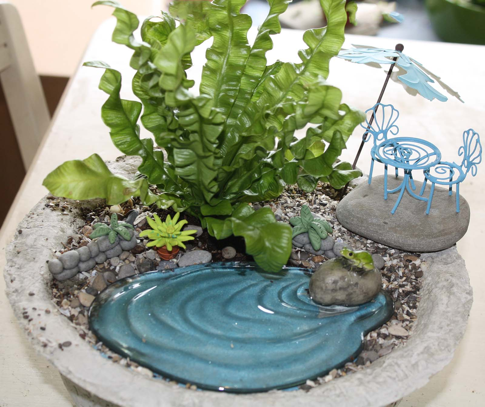 Stunning Fairy Gardens Fairy Garden Fairy Gardens Uk Fairy Gardens Around World Fairy Garden A Papercrete Container Made At Papercrete Class From Leecoates Papercrete garden The Fairy Gardens