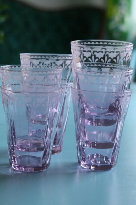 Rosa glas från Indiska