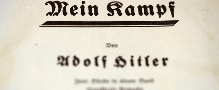 """The title page of Adolf Hitler's book """"Mein Kampf"""" (My Struggle) from 1940 is pictured in Berlin, Germany, in this picture taken December 16, 2015. REUTERS/Fabrizio Bensch/File Photo"""