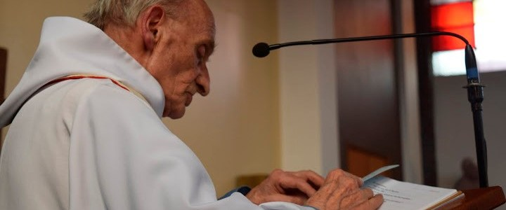 An undated photo shows French priest, Father Jacques Hamel of the parish of Saint-Etienne. Hamel was killed, and another person was seriously wounded after two assailants took five people hostage in the church at Saint-Etienne-du-Rouvray near Rouen in Normandy, France, July 26, 2016 in an attack on a church that was carried out by assailants linked to Islamic State.     Photo Courtesy of Parish of Saint-Etienne via Reuters