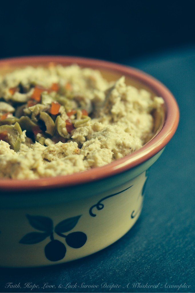 Birthday Leftover Chicken Spread | Faith, Hope, Love, and Luck Survive Despite a Whiskered Accomplice