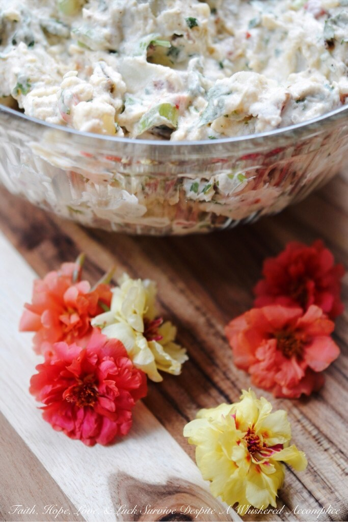 Southwest Potato Salad | Faith, Hope, Love, and Luck Survive Despite a Whiskered Accomplice