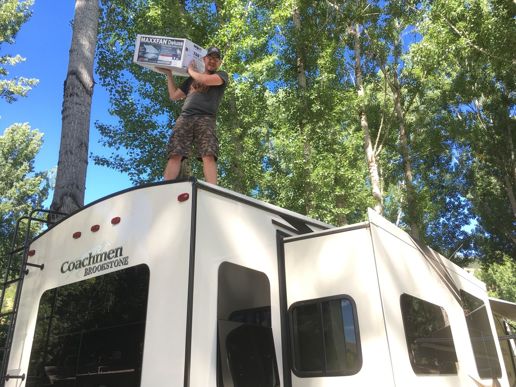 How to install a Maxxfan deluxe in your RV
