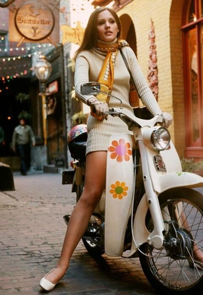 Girl on a scooter (1969).