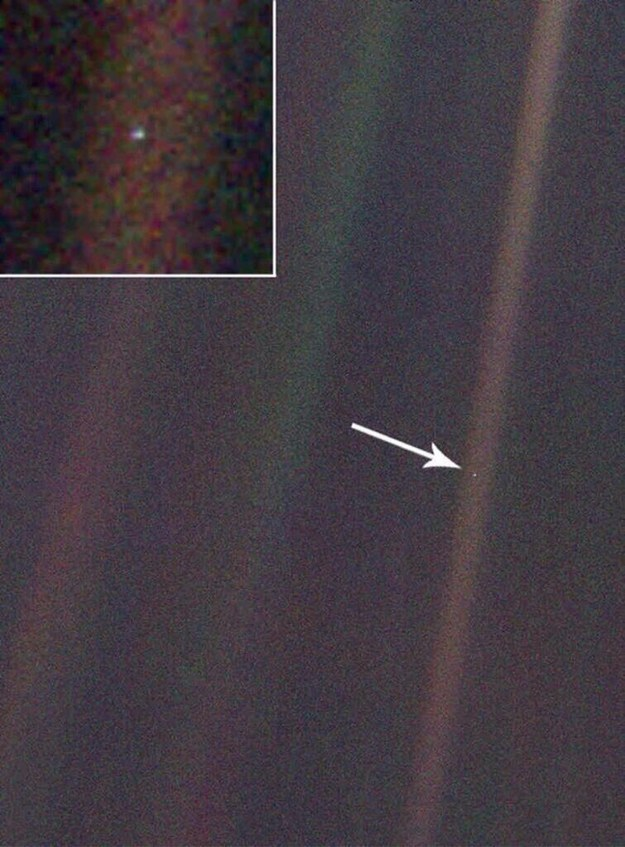 And here's you from just beyond Neptune, 4 billion miles away.