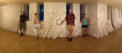 Family pano at hotel. Photo by j a-b.