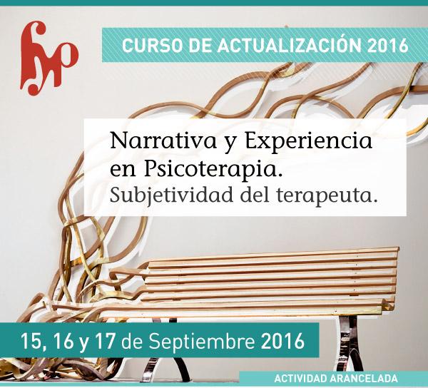Curso de Actualización - Narrativa y Experiencia en Psicoterapia