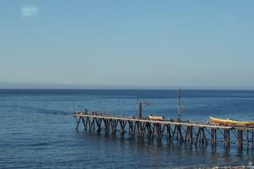 Seebrücke am Fischmarkt in Valparaiso