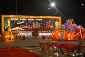 Vorbereitungen für die Open Air Show zum Chinesischen Neujahr am Float @ Marina Bay