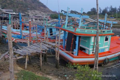 Fischerei-Hafen von Hua Hin