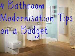 Bathroom modernisation tips on a budget