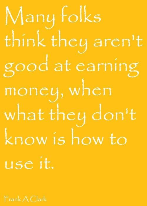 Using Money quote