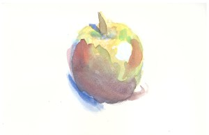 Winter Apple, Caedryn Pierce, Watercolor, February 2015