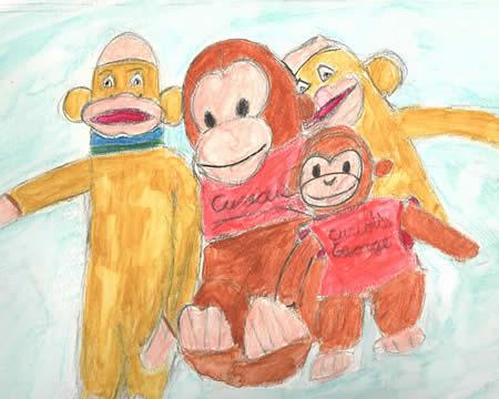 Monkey Business, Robert Pierce, Jr, Pencil on Paper, 2012
