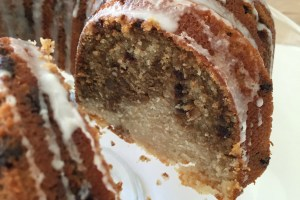 Chocolate Coffee Pecan Swirl Coffee Cake