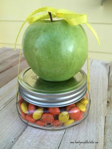 Caramel Apple in a Jar, ready for giving