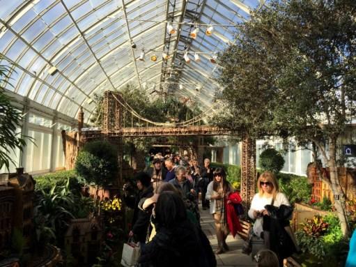 New York Botanical Garden Holiday Train Show Family Road