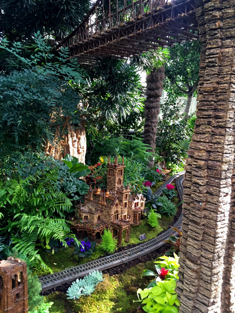 New York Botanical Garden Holiday Train Show Family Road Traveled
