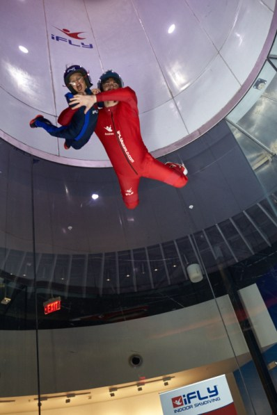 Indoor skydiving at iFly Westchester in Yonkers, NY