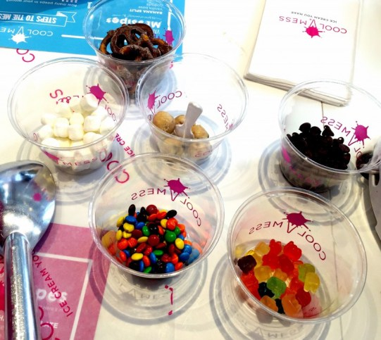 Cool Mess NYC - Ice cream you make yourself, customize your ingredients