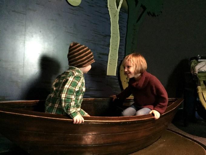 NY Aquarium Conservation Hall Row Boat