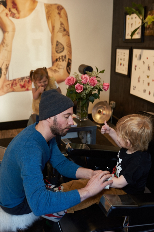Tattly Tatoo Parlor in Brooklyn NY for FamilyRoadTraveled.com