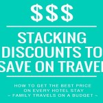 Stacking discounts to save on travel