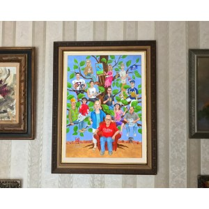 Fabulous Elderly Parents Who Have Everything Custom Family Portrait Painting Style A Family Tree Family Tree Painting Done New Parents Who Have Everything Gifts Gifts Acrylic On Comes