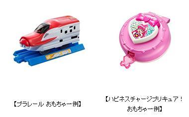 ハッピーセットおもちゃプラレールとプリキュア