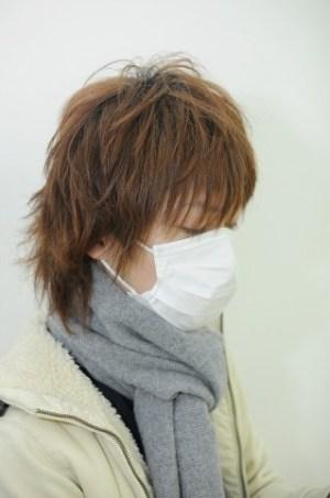 花粉症、男性マスク写真