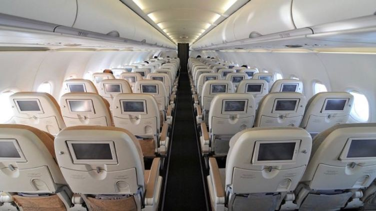 Etihad Airbus A319 economy class