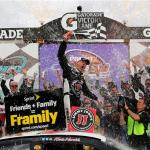 Kevin Harvick, driver of the #4 Jimmy John's Chevrolet, celebrates in Victory Lane after winning the NASCAR Sprint Cup Series The Profit On CNBC 500 at Phoenix International Raceway on March 2, 2014  Photo - Jerry Markland/Getty Images