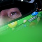 Kyle Busch, driver of the #18 M&M's Crispy Toyota, sits in his car during practice for the 57th Annual Daytona 500 at Daytona International Speedway on February 14, 2015 Photo - Sarah Glenn/Getty Images