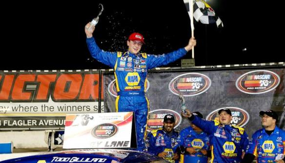 Todd Gilliland at 8:40 pm ET on Monday, February 15, 2016. Photo - Sean Gardner/Getty Images