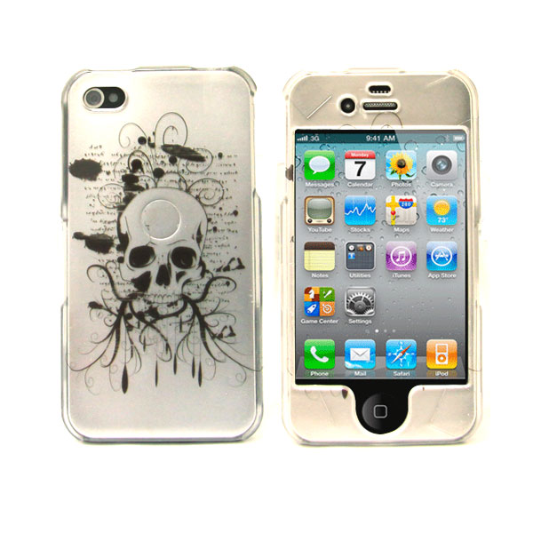 Graphic Snap-on Protective case for iPhone 4 (Skull Notes)