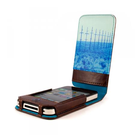Ted Baker Leather Style Apple iPhone 4 Case Mens