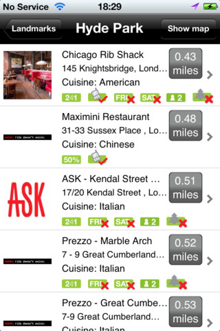 Tastecard London iPhone App Review