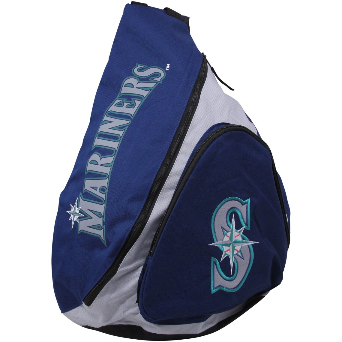 Seattle Mariners Slingback Backpack - Navy Blue/White