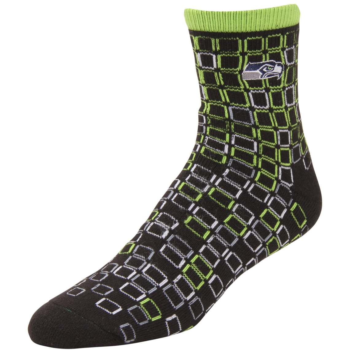 Seattle Seahawks Digital Stroke Tri-Blend Crew Socks