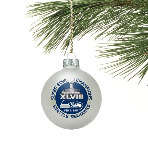 Seattle Seahawks Super Bowl XLVIII Champions Small Ornament