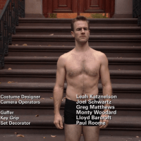 "James Van Der Beek as James Van Der Beek and Eric Andre as Mark Reynolds shirtless in Don't Trust the Bitch in Apartment 23 2x08 ""Paris..."""
