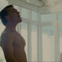 Darren Moss as Giles shirtless/naked in X: Night of Vengeance