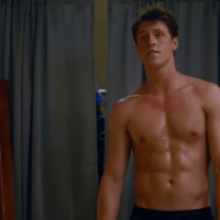 "Shane Harper as Ian Chandler shirtless in Happyland 1x01 ""Pilot"""