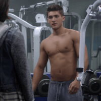 """Cody Christian as Theo Raeken shirtless in Teen Wolf 5x06 """"Required Reading"""""""