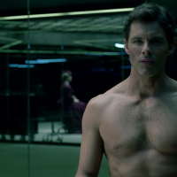 "James Marsden as Teddy Flood shirtless in Westworld 1x03 ""The Stray"""