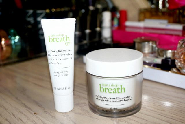 Philosophy Take a Deep Breath Oxygenating Oil Free Gel Cream & Oxygenating Eye Gel Cream